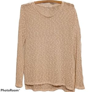 Aeropostale Sweater - Pink And Gold Sheer Sparkly